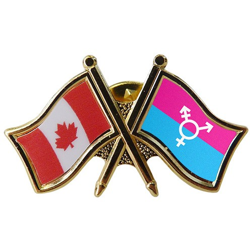 Canada/Transgender Crossed Pin