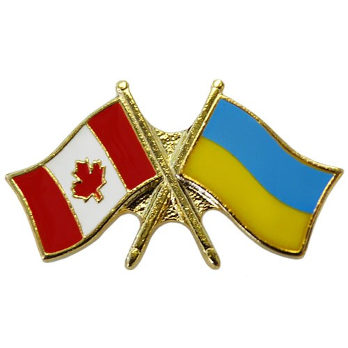 Canada/Ukraine Crossed Pin