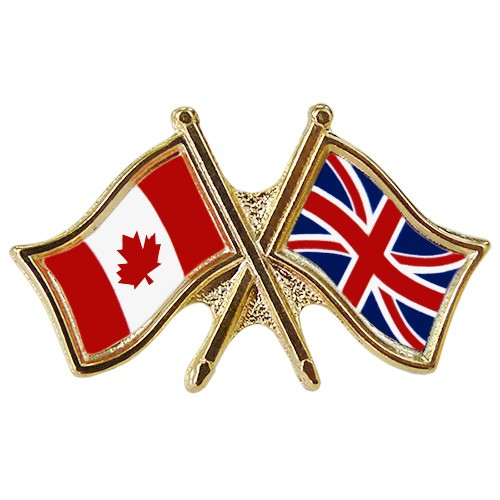 Canada/Union Jack Crossed Pin