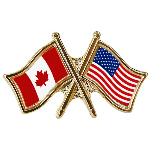 Canada/USA Crossed Pin