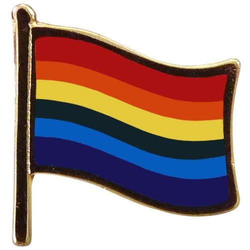 "Pride Waving Flag Pin (5/8"")"