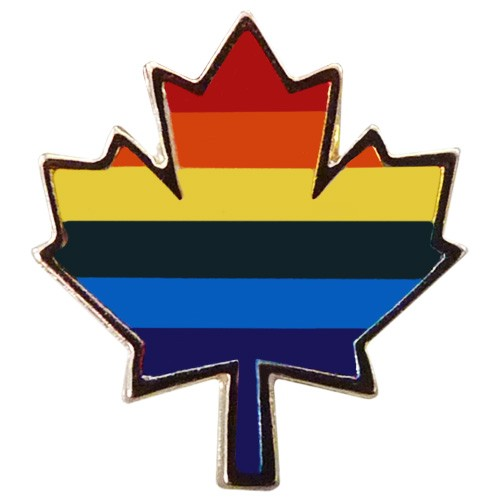"Pride Maple Leaf Pin (5/8"")"