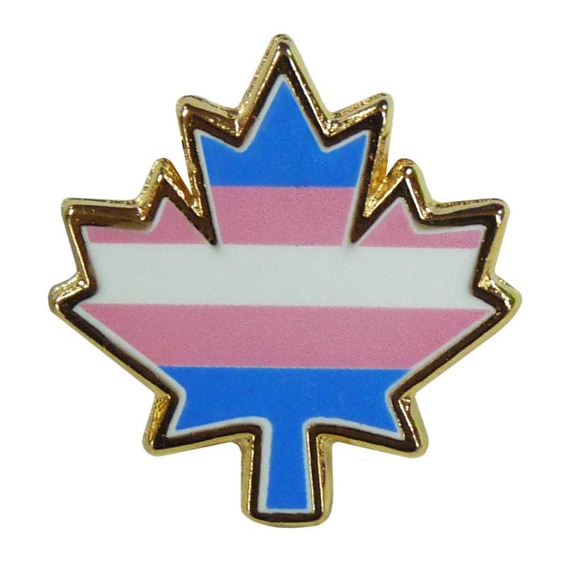"""Transgender Maple Leaf Pin (3/4"""")"""