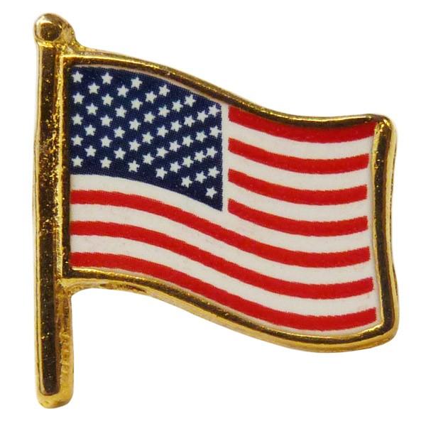 """USA Waving Flag Pin (5/8"""")"""