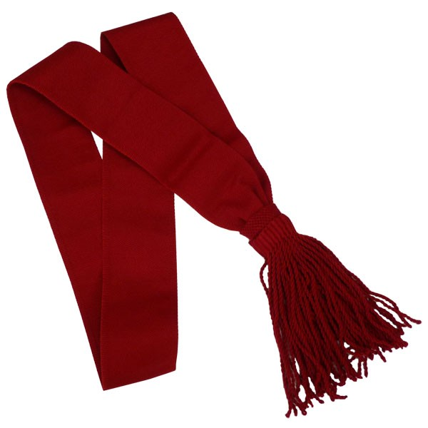 Parade Marshall Sash, Red Wool