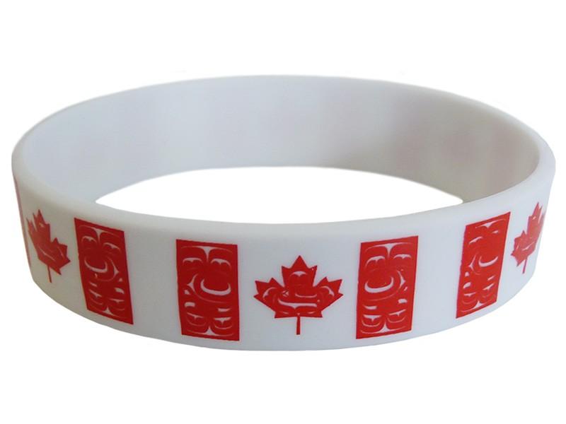 Canadian Native Flag Silicone Bracelet (Adult Size)