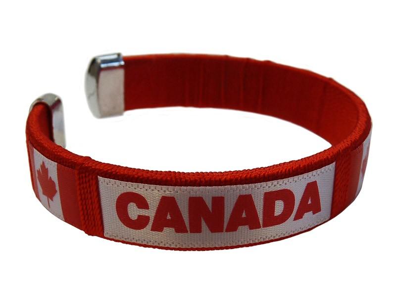 "Canada Flag ""C"" Bracelet, Red"