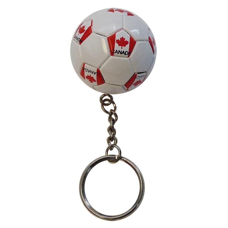 Canada Soccer Ball Key Chain