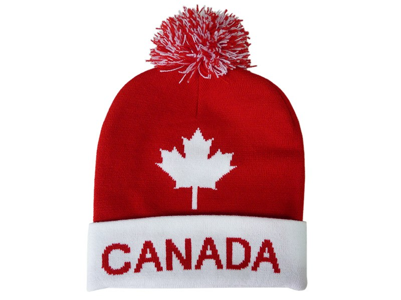 Canada Red & White Knitted Toque