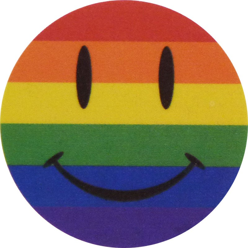 "Pride Tattoo - Happy Face, 1.5""x1.5"""