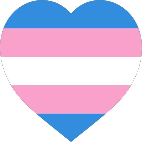 """Transgender Tattoo - Heart, 1.5""""x1.5"""" (New!)"""