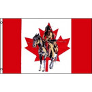 Canadian Indian with Horse Flag