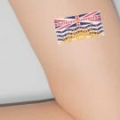 "BC Indigenous Flag Tattoos, 7/8"" x 1.75"""
