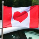 Heart Canada Flag - 12x18 Car Flag