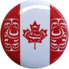"Canadian Native Flag Button 1.5"" diameter (round button)"
