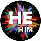 He / Him Pronoun Buttons