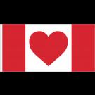 Heart Canada Flag