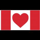 Heart Canada Flag - 45x90 Sewn Nylon