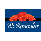 We Remember Motorcycle Flag