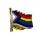 Inclusive Pride Waving Flag Lapel Pin