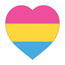 Pansexual Tattoo - Heart