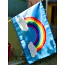 Hope Rainbow 12x18 Stick Flag